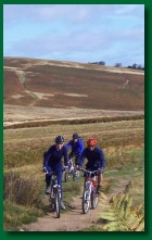 One of our groups cycling over Moor Divock near Ullswater